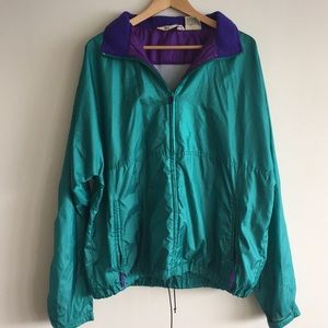 Vintage LL Bean Windbreaker XL Teal
